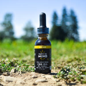 Earth To Mind 300mg Pet CBD Bottle