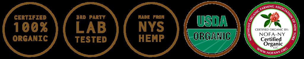 Certified Organic Lab Tested NYS Hemp